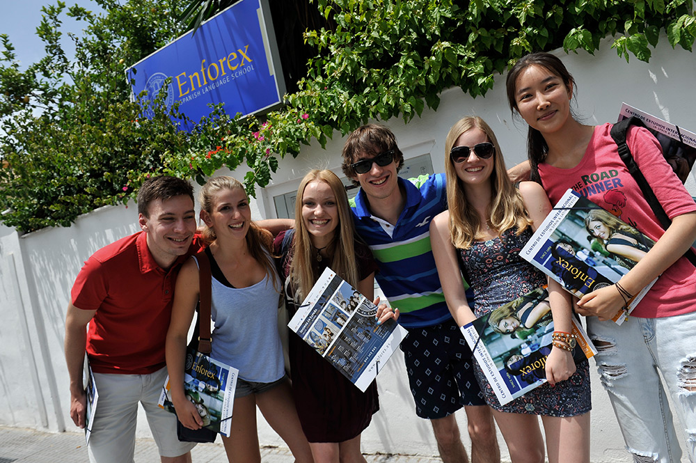 Meet students from all over the world when studying Spanish courses in Málaga